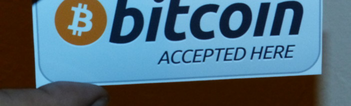 BTC accepted here sticker